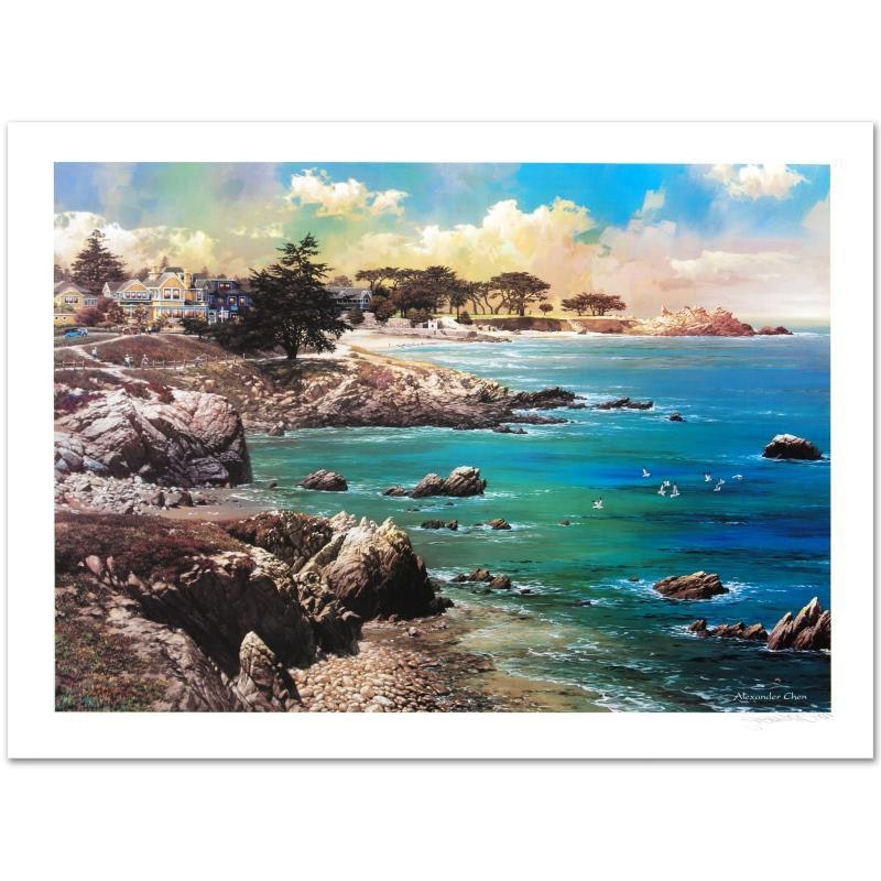 "Alexander Chen Limited Edition Offset Lithograph ""Along the Coast"""