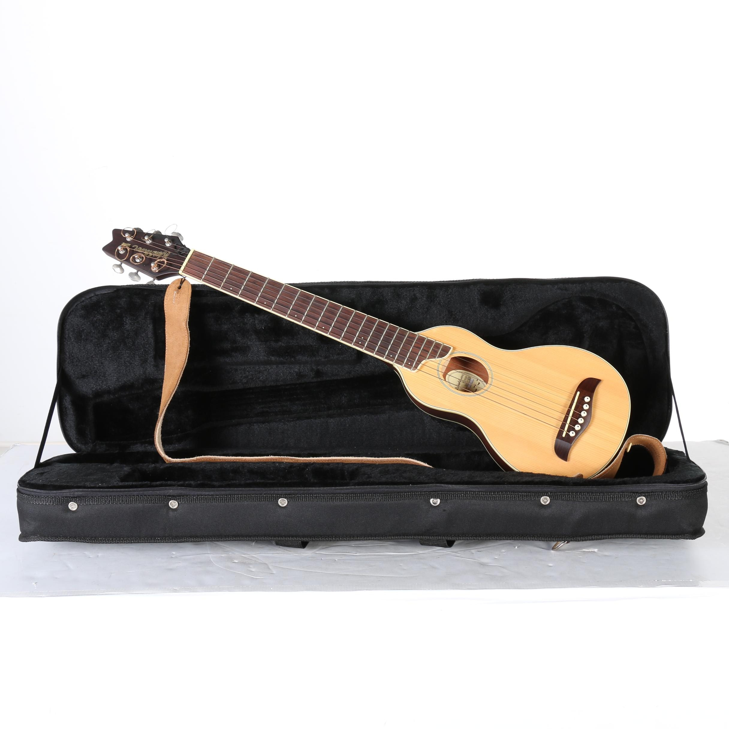 Washburn Rover Acoustic Travel Guitar, Case and Strap