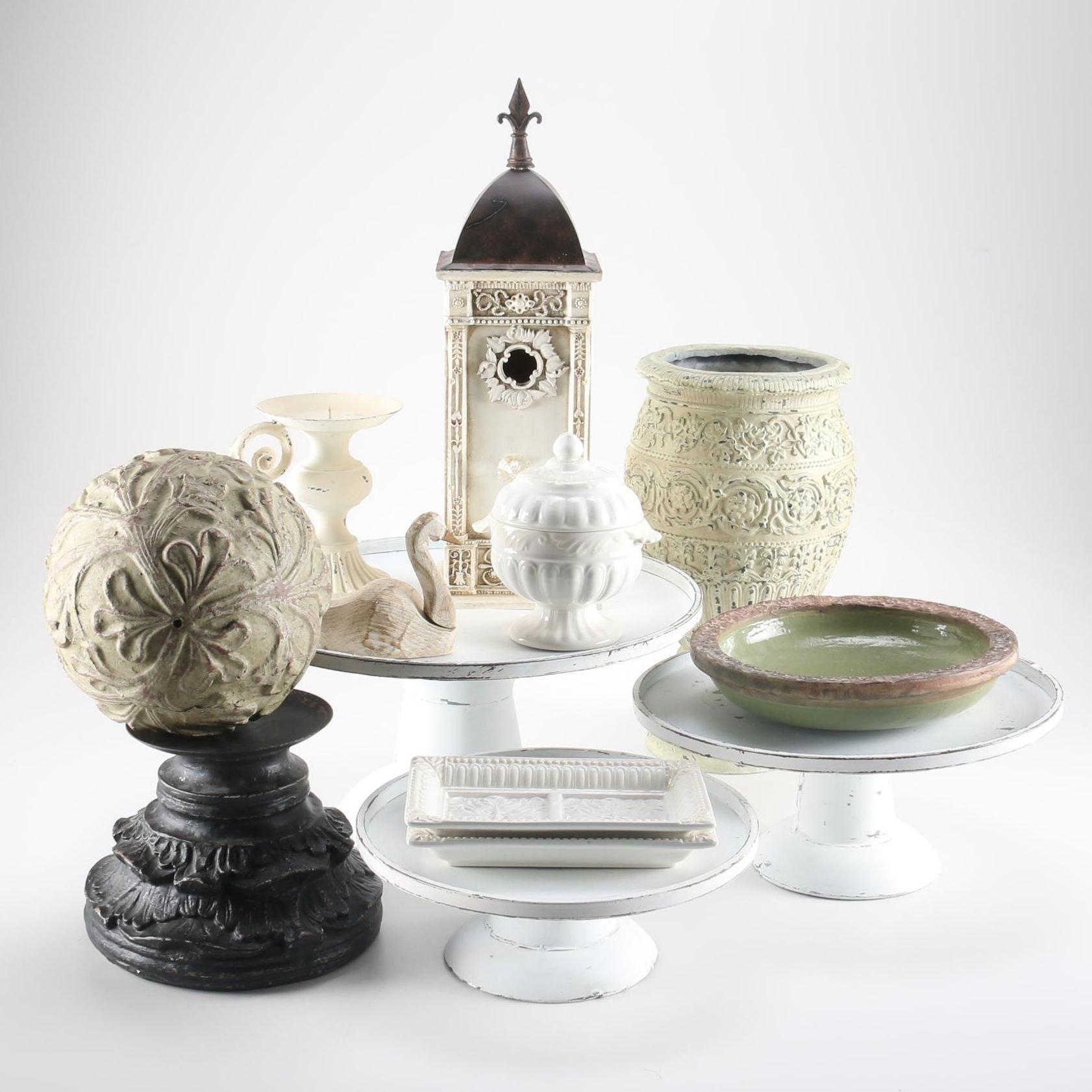 Rustic Tabletop and Ceramic Decor Featuring Lenox