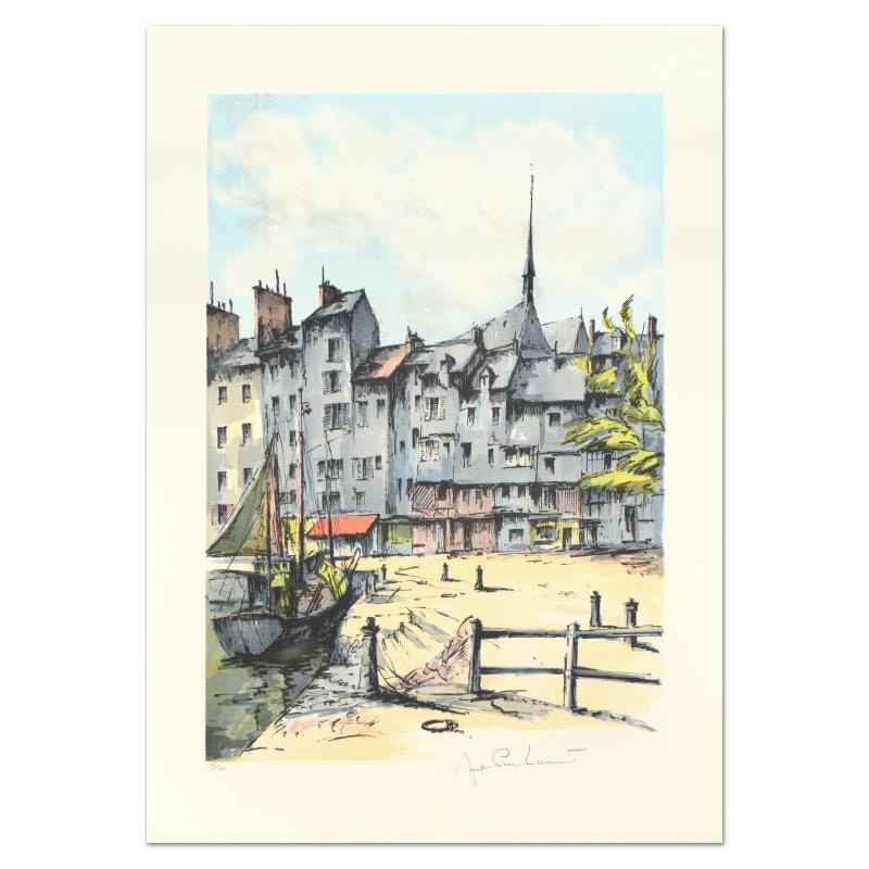 "Laurant Signed Limited Edition Lithograph ""Honfleur"""