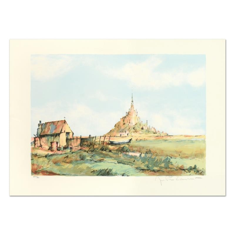 "Laurant Signed Limited Edition Lithograph ""San Michel"""