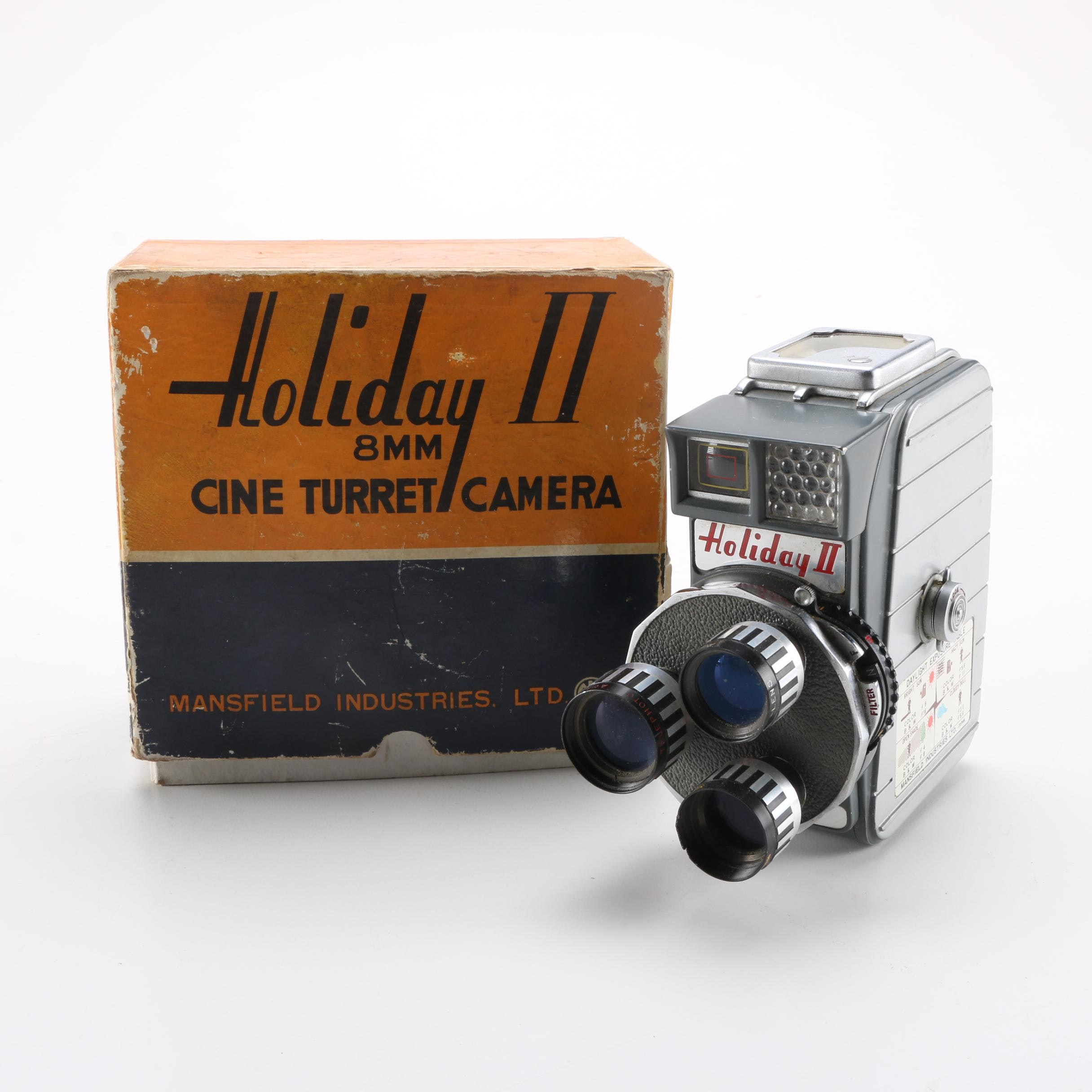 "Mid-Century Mansfield Industries ""Holiday II"" 8 mm Camera"