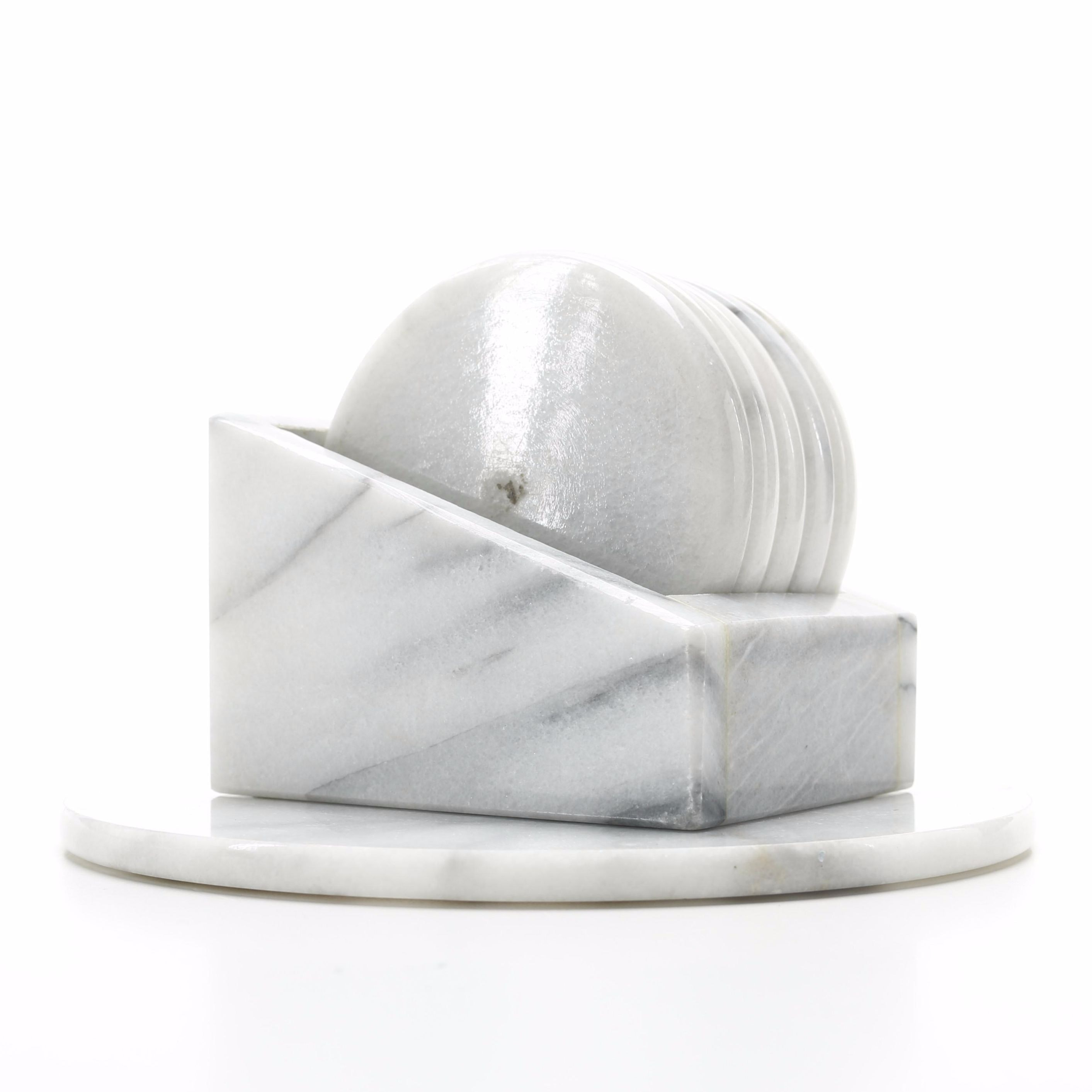 Marble Style Coasters With Case