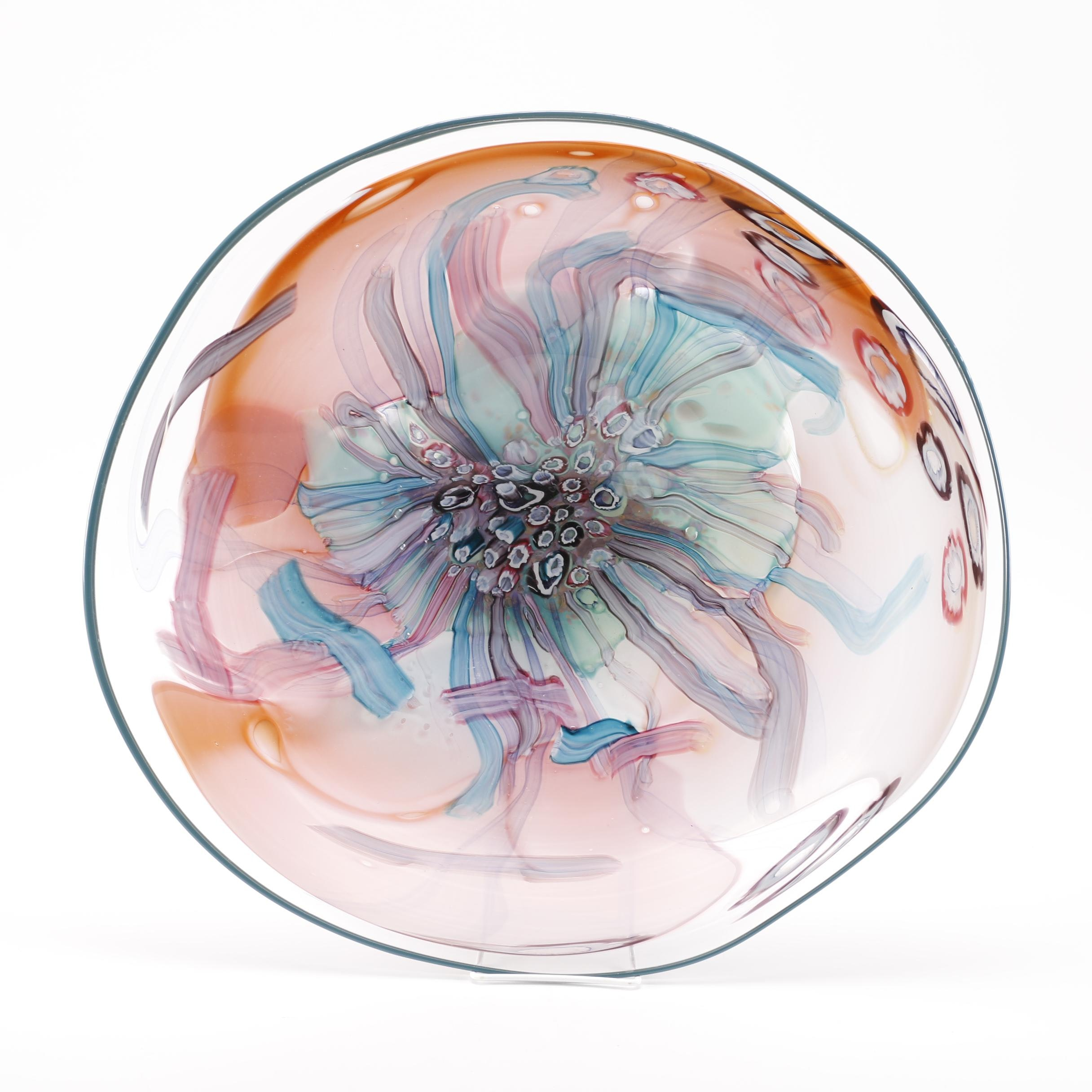 Colorful Art Glass Bowl