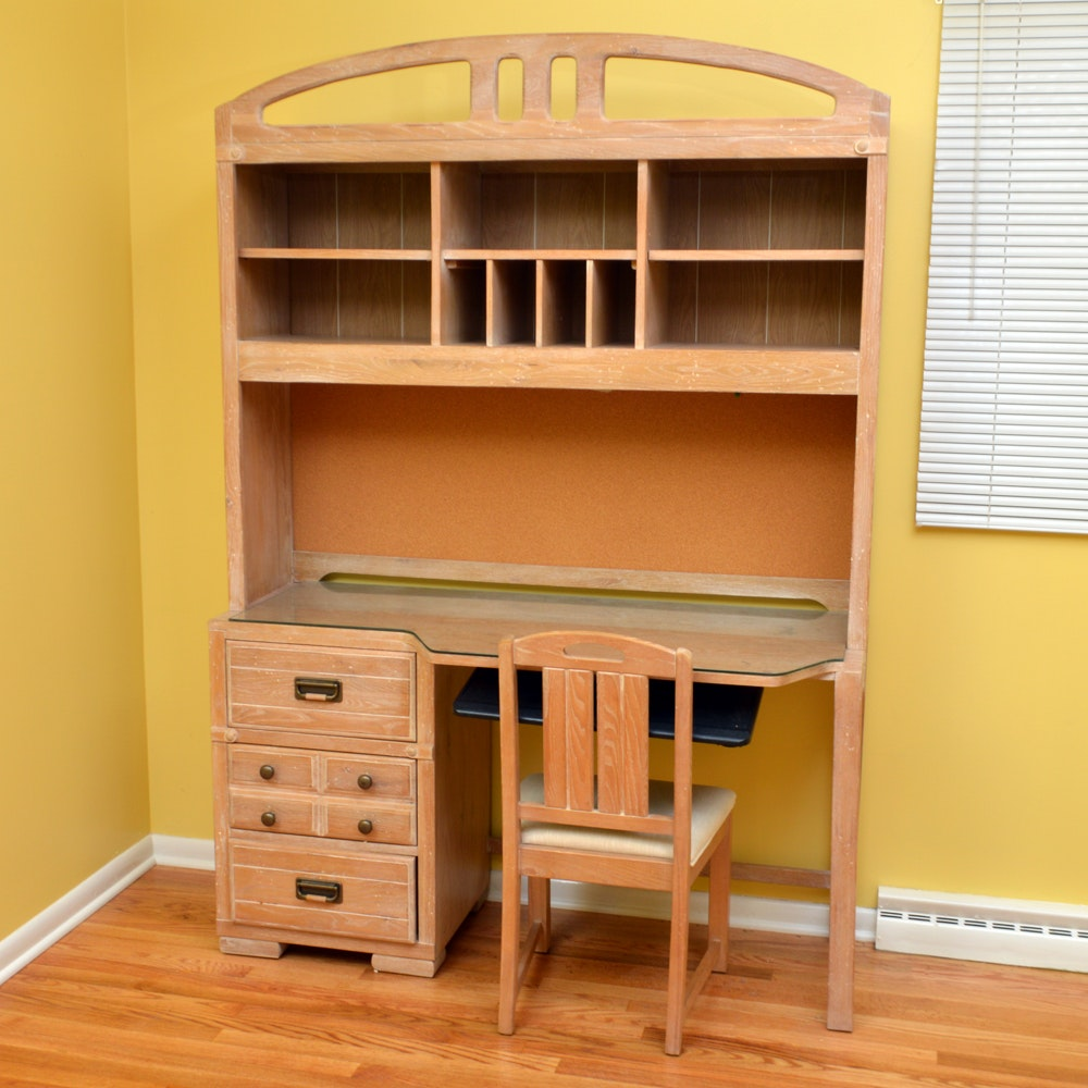 Maple Desk With Hutch And Chair By Stanley Furniture ...