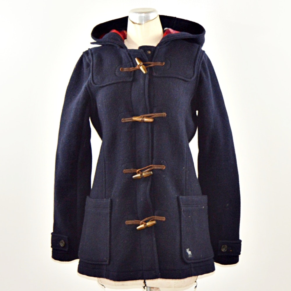 Abercrombie & Fitch Wool Toggle Coat