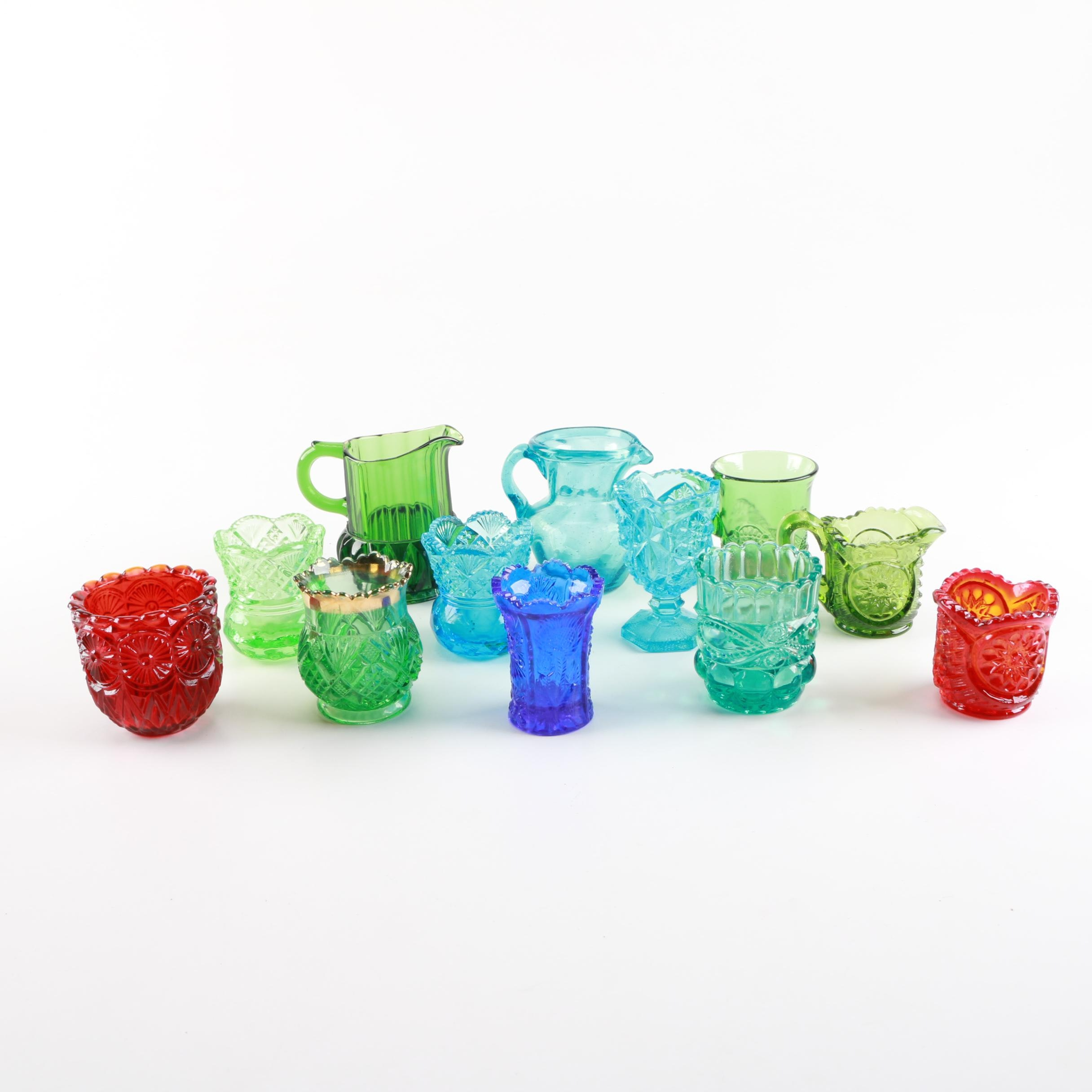 Colorful Smaller Glassware Pieces