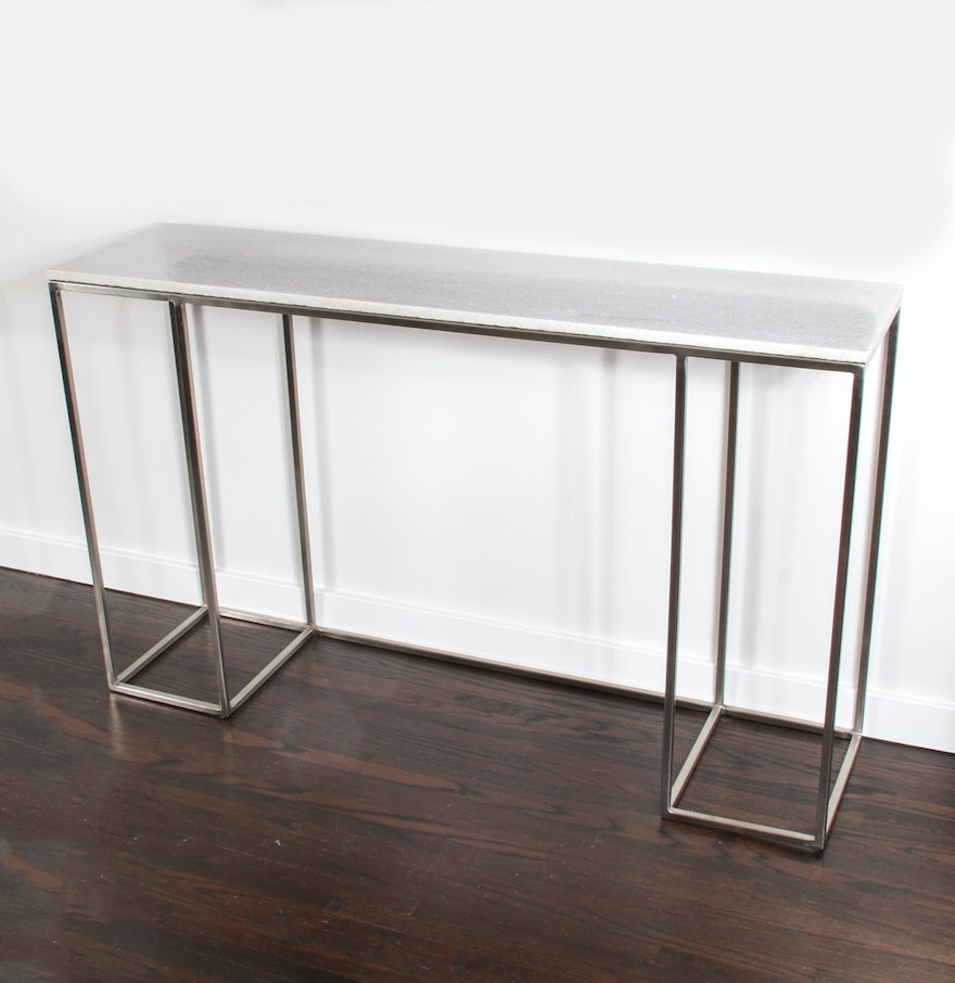 Console table with quartz stone top ebth console table with quartz stone top geotapseo Gallery