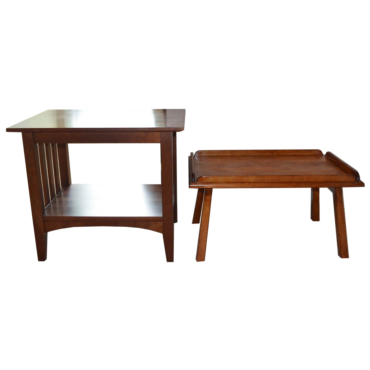Cherry Accent Table And Ethan Allen Mission Style Side Table ...