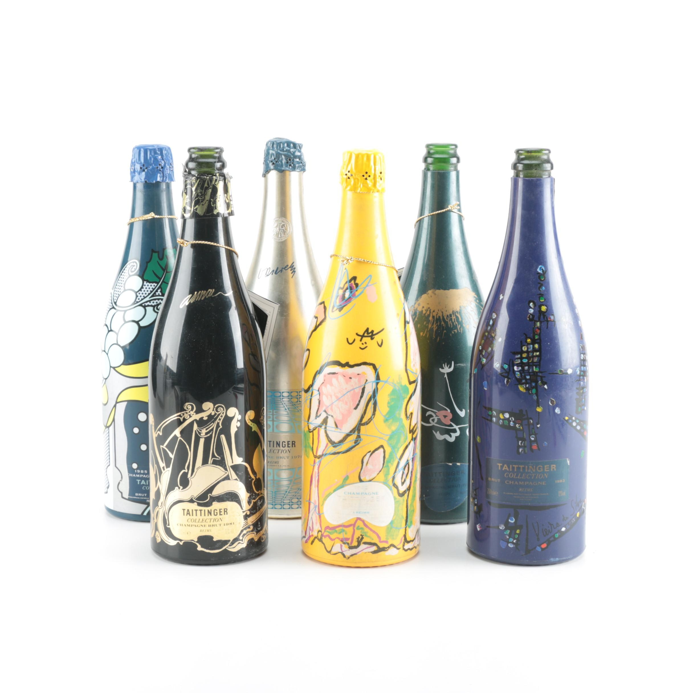 Bottles From the Taittinger Collection Series