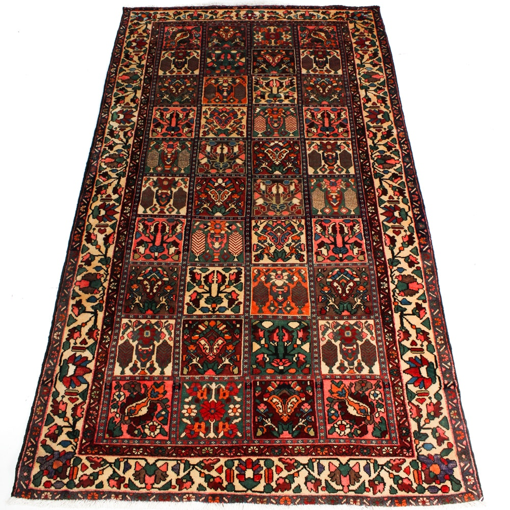 Hand-Knotted Persian Bakhtiari Pictorial Area Rug