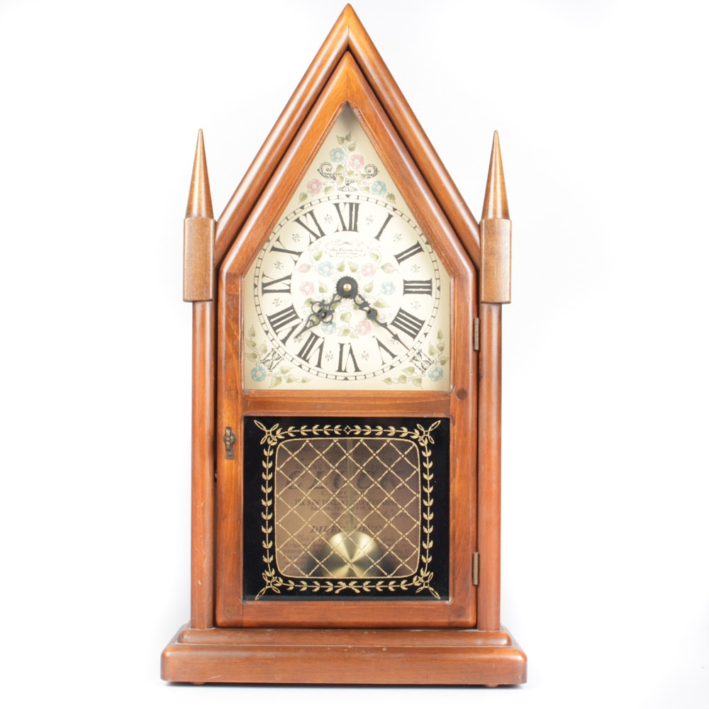 New England Clock Company Eight Day Steeple Clock