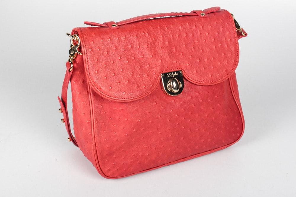 Z Spoke by Zac Posen Embossed Leather Handbag