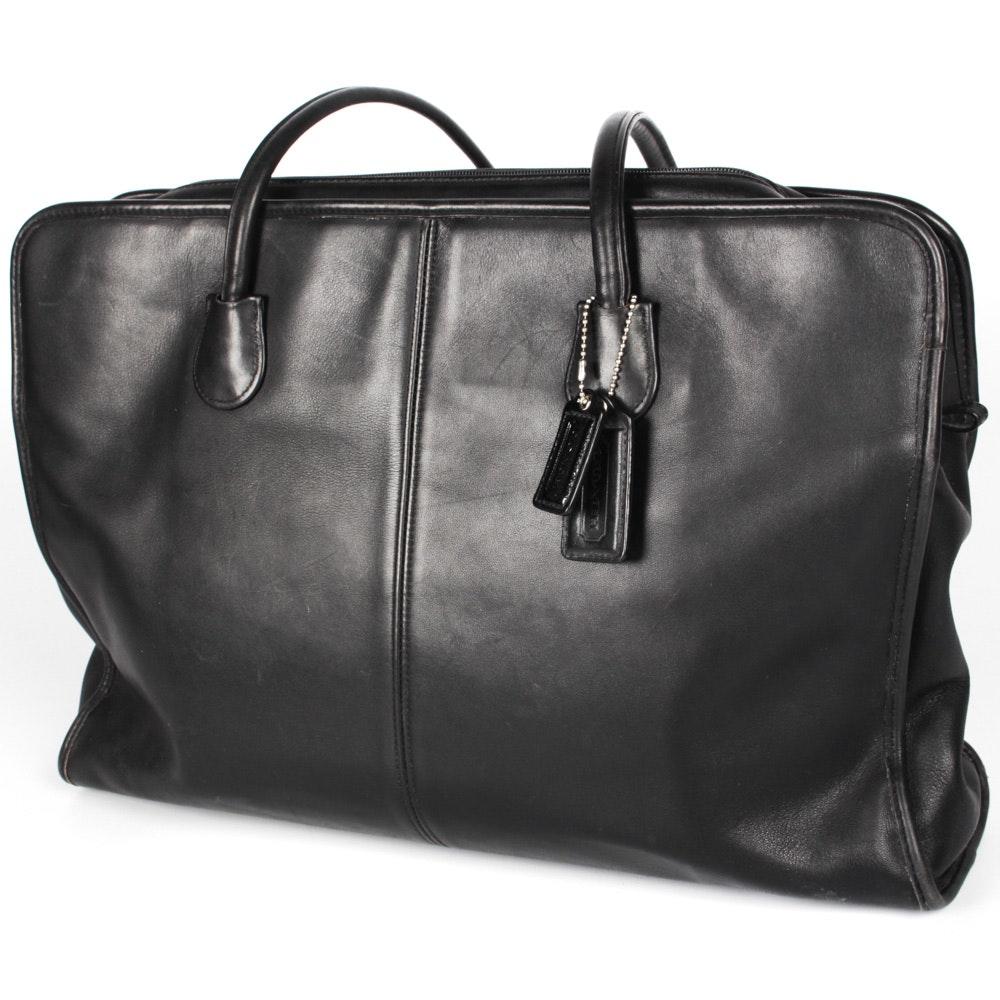 Coach Black Leather Attache Shopper Tote