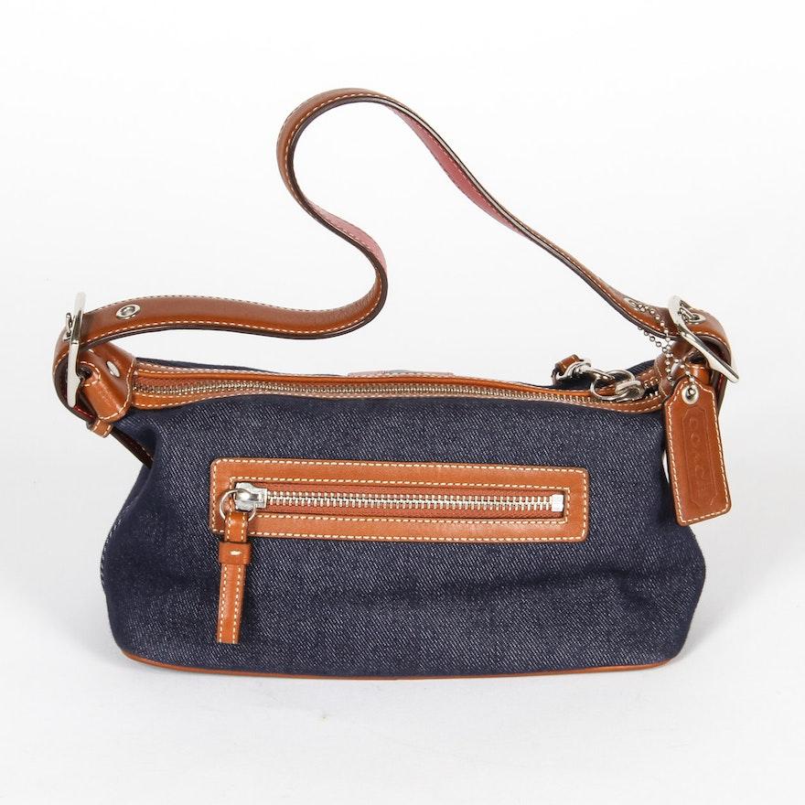 Coach Leather and Denim Bag With Coach Dust Bag   EBTH e62082c607e04