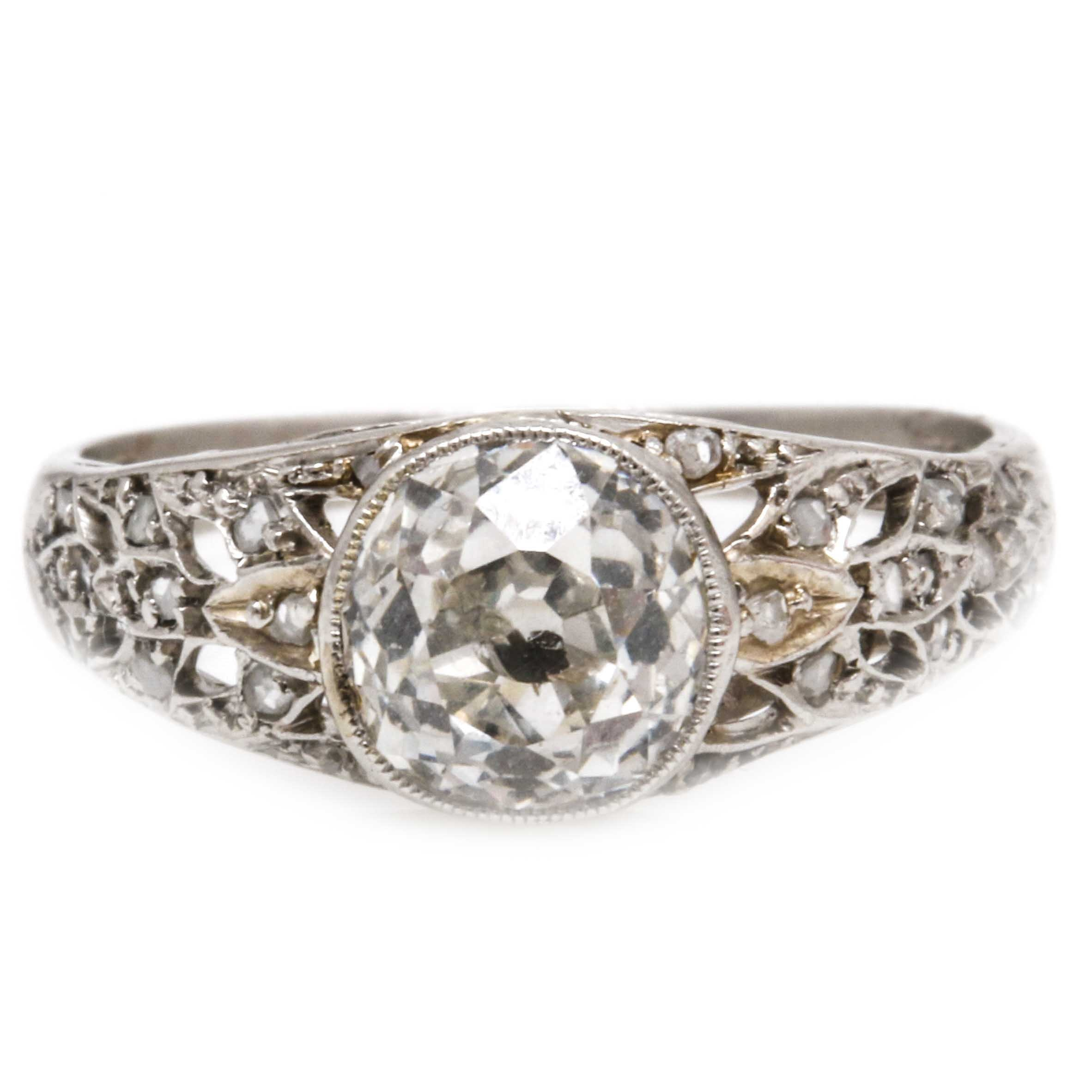 Platinum 1.21 CTW Diamond Ring
