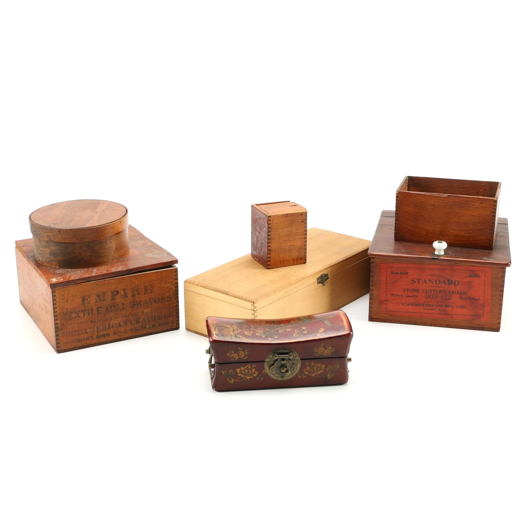 Vintage Wood Trinket Boxes
