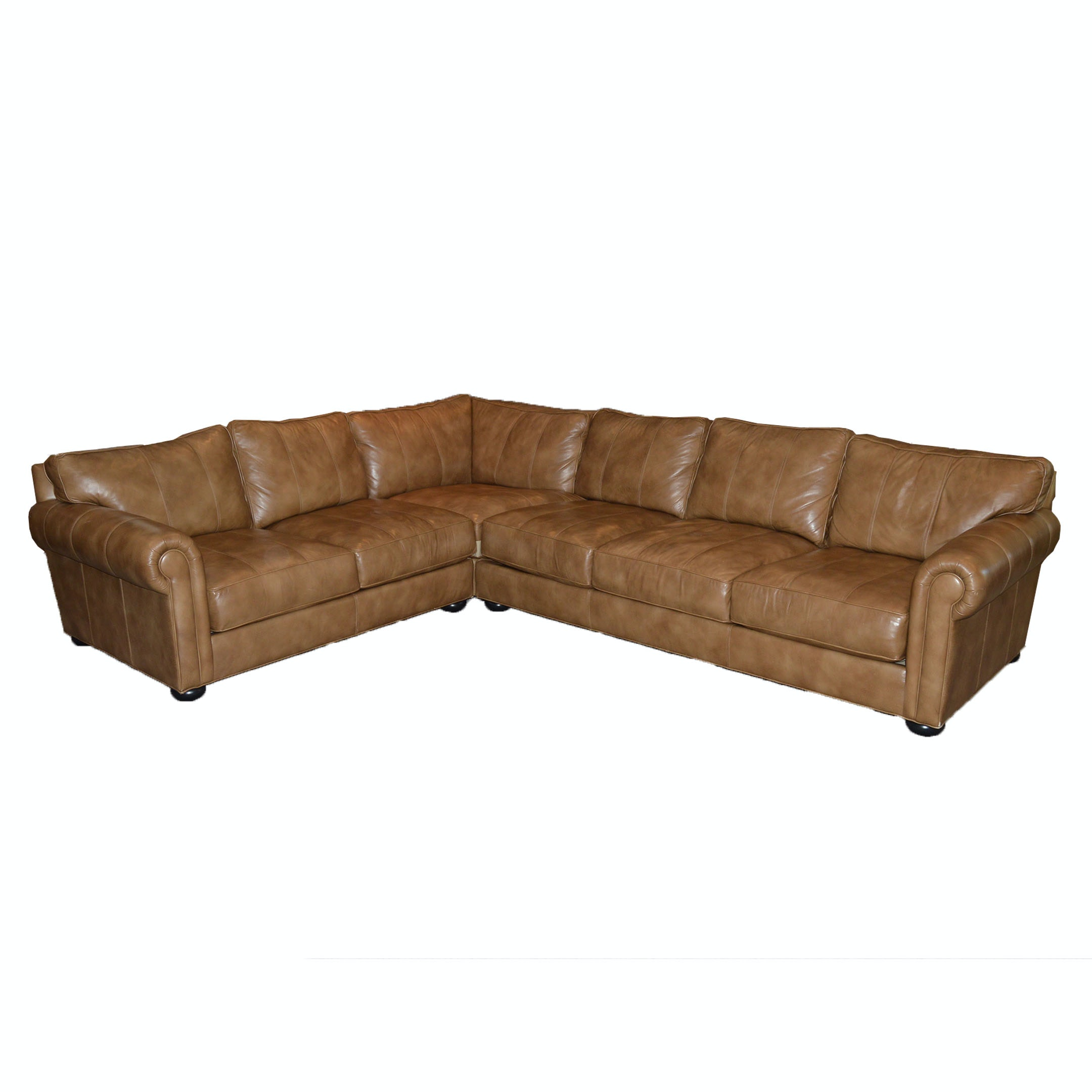 """""""Richmond"""" Leather Sectional Sofa by Ethan Allen"""