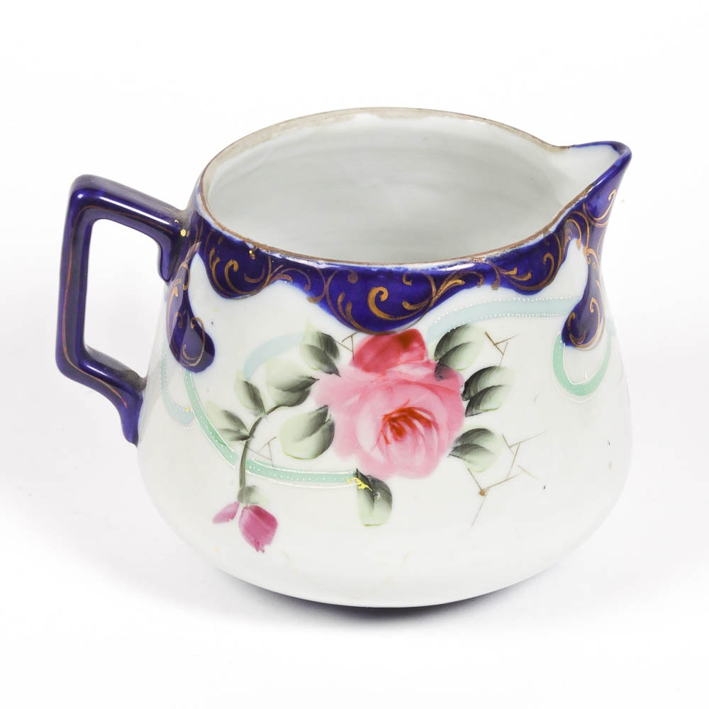 Hand Painted Nippon Creamer Pitcher
