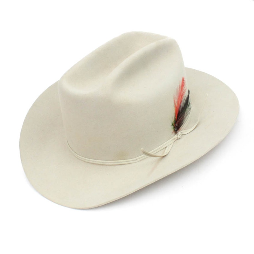 93354cf0b6fda4 Stetson 4X Beaver Silver Belly hat : EBTH