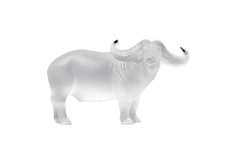 Lalique Frosted Crystal Nam Buffalo Oxen