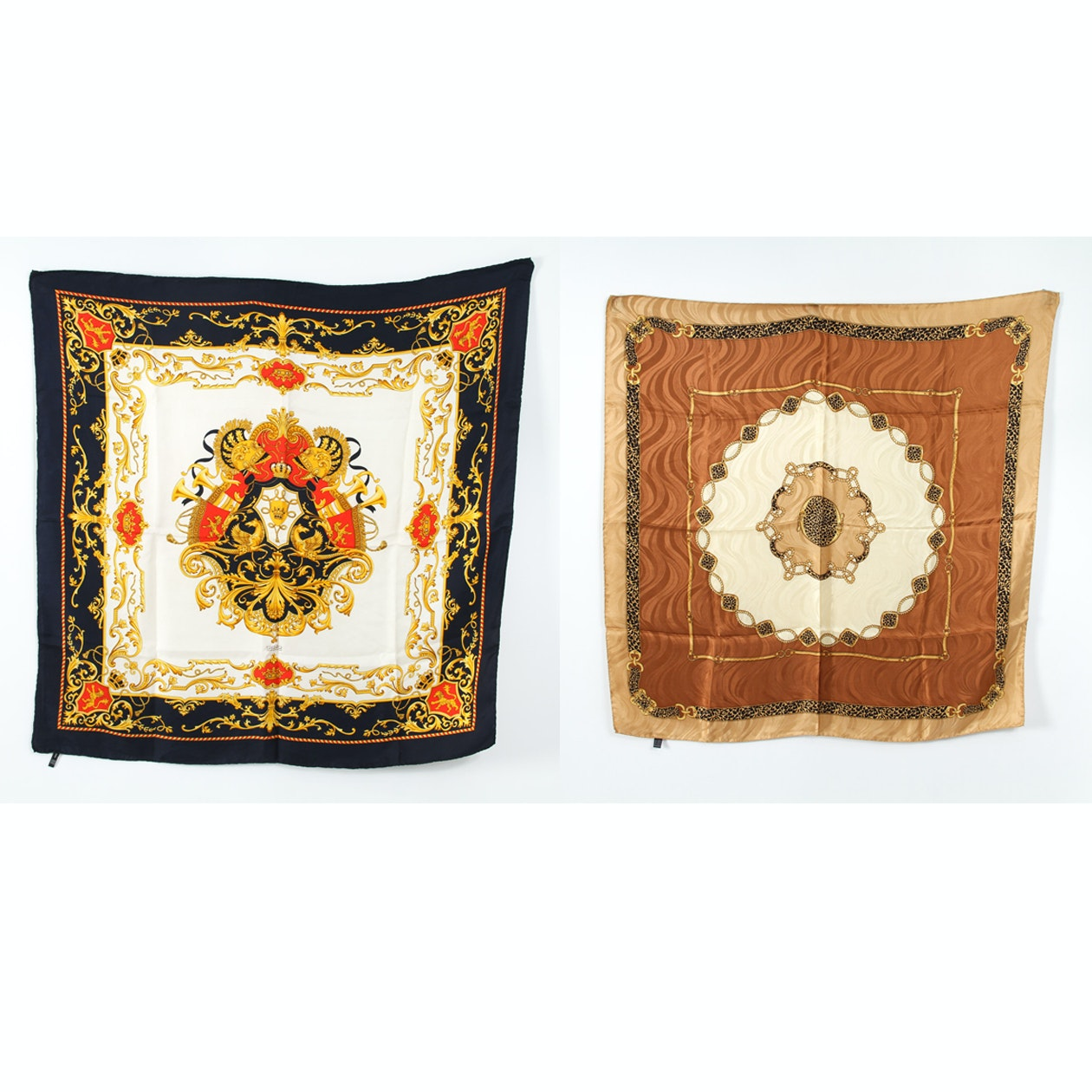 Pair of Italian Silk Scarves