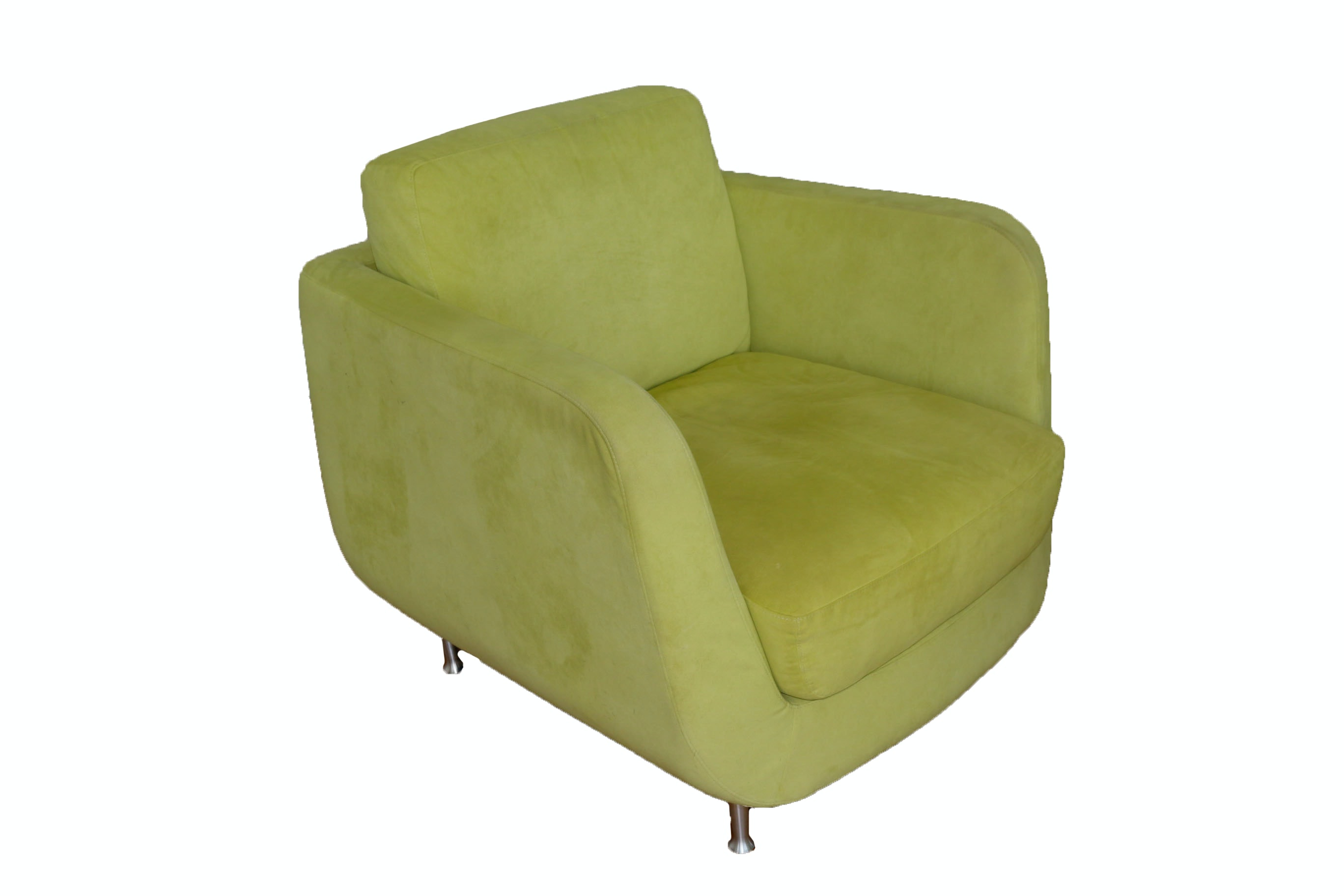 Modernist Style Ultra Suede Armchair by American Leather