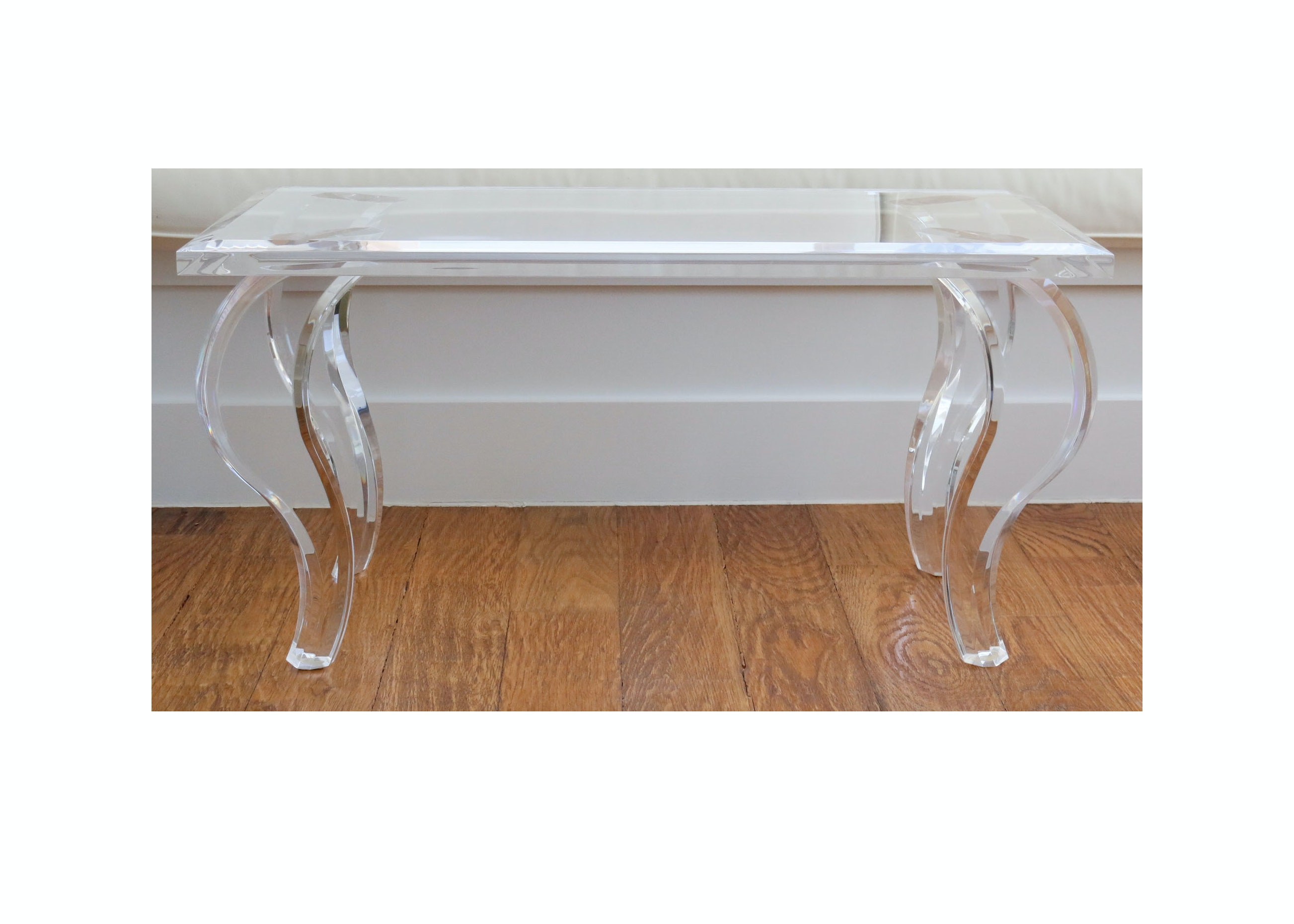 Modernist Style Lucite Coffee Table From Cantoni