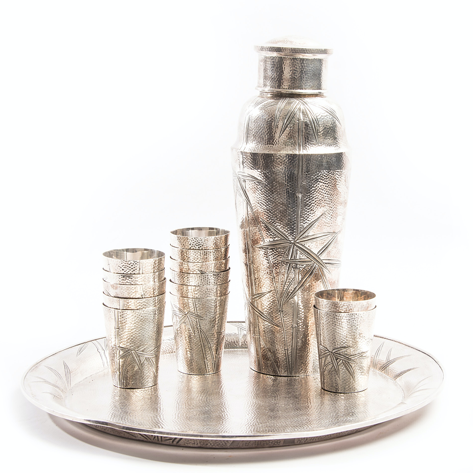 Sterling Silver Asahi Shoten Cocktail Set