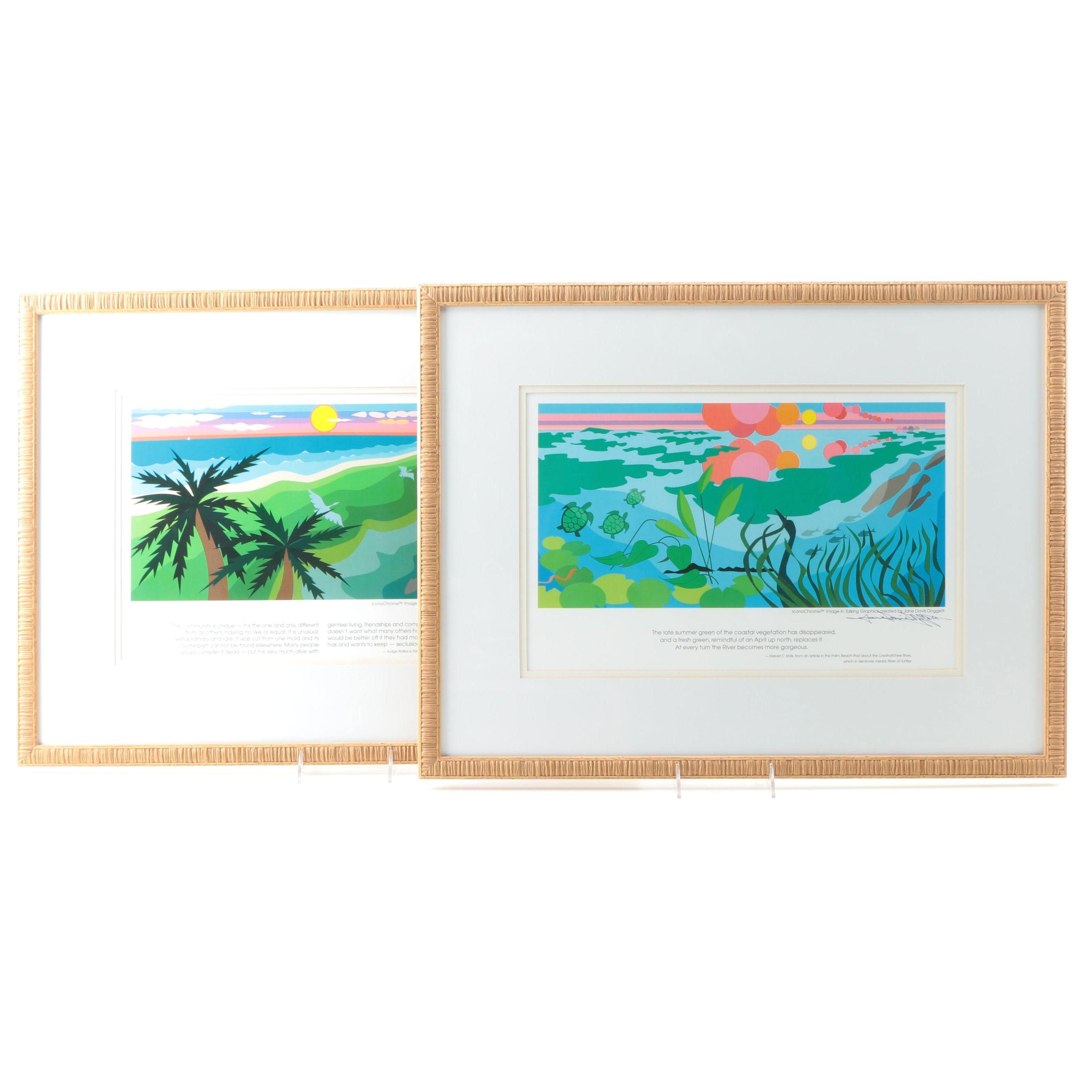 Offset Lithographs After Vector Images by Jane Davis Doggett