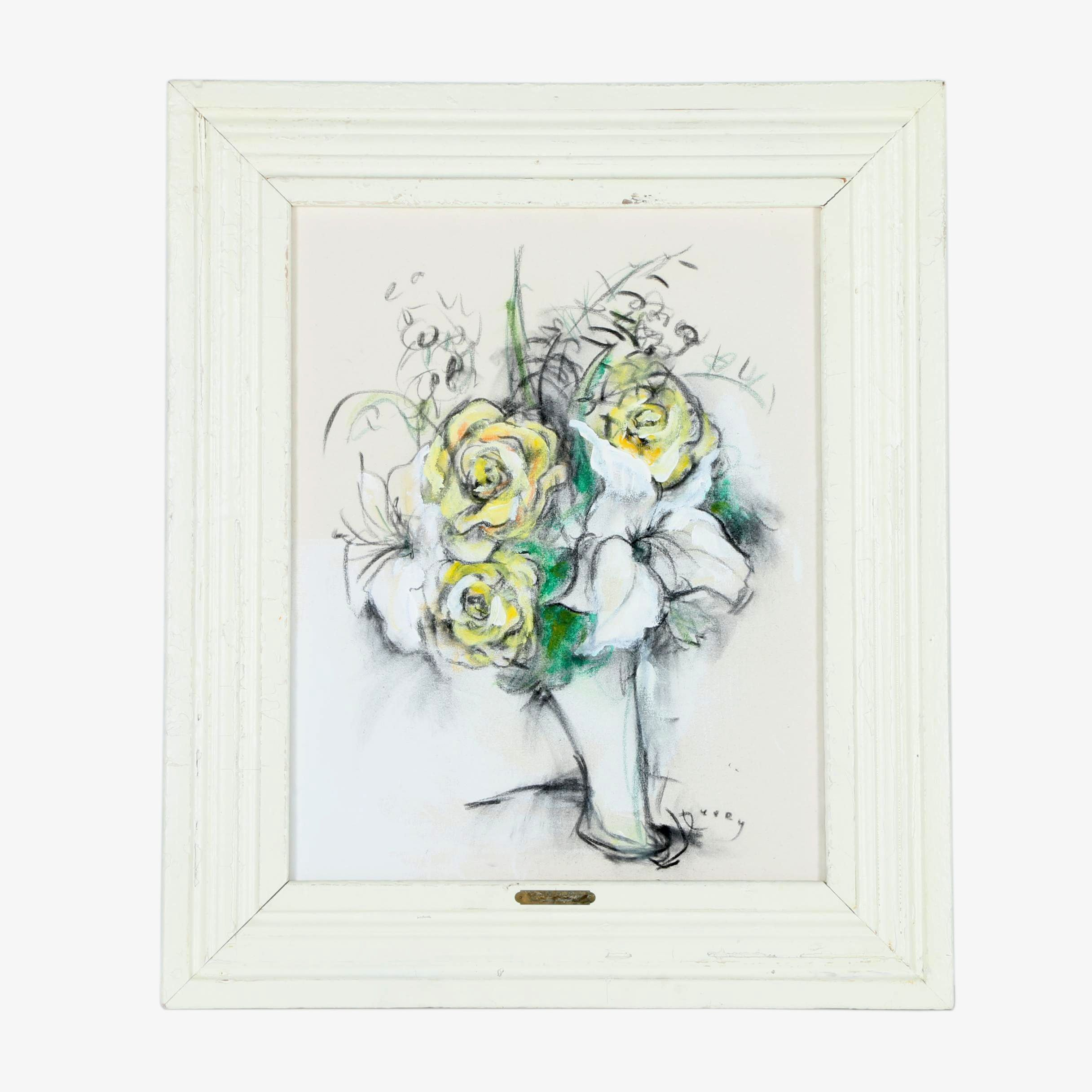 "James Peery Mixed Media ""Bouquet No. 10"""