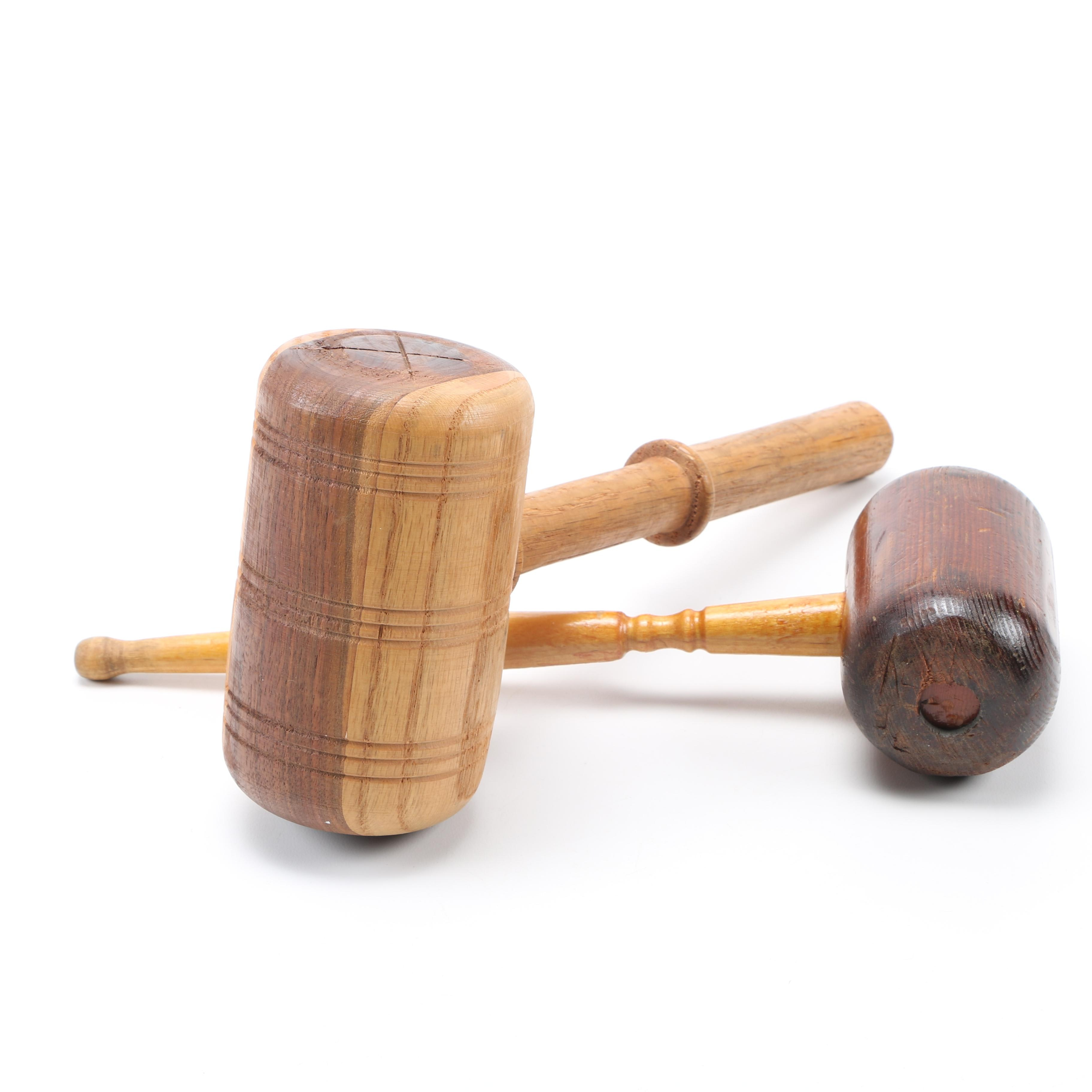 Wooden Mallet and Gavel