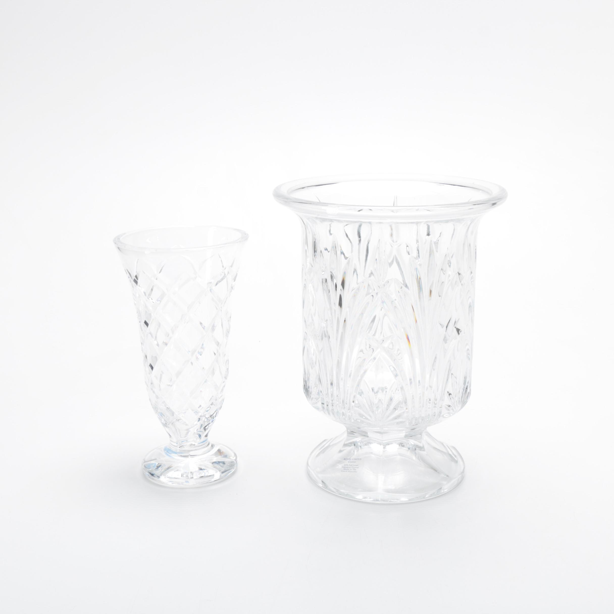 Royal Limited and Waterford Crystal Vases