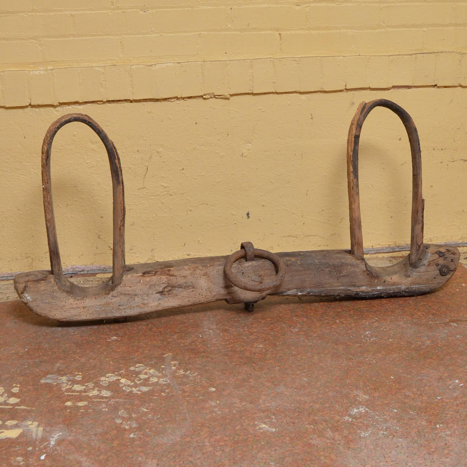 Antique Wooden and Metal Yoke