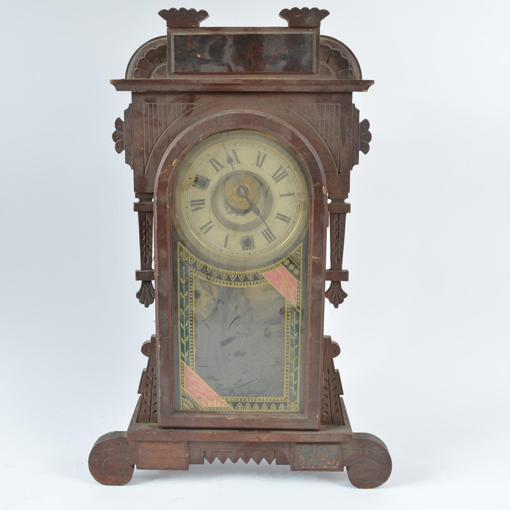 Antique New Haven Clock Company 8 Day Shelf Clock