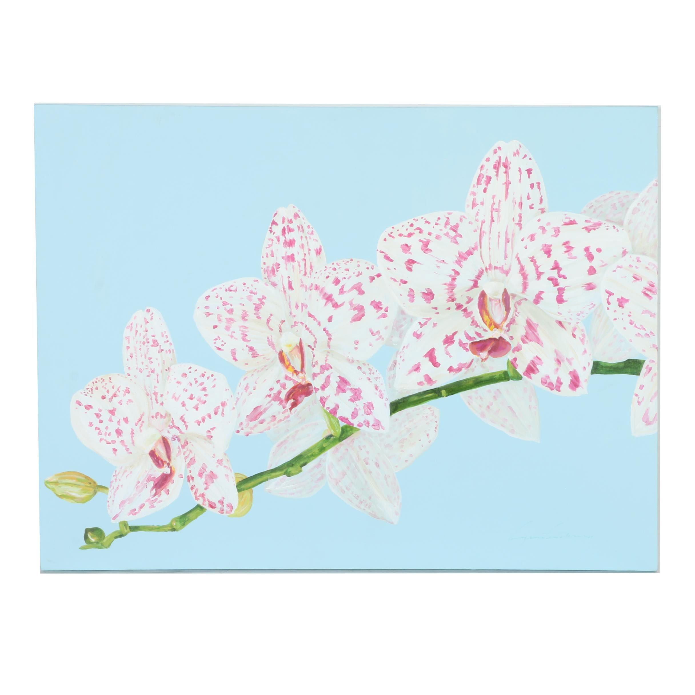 Original Acrylic Painting Of Flowers