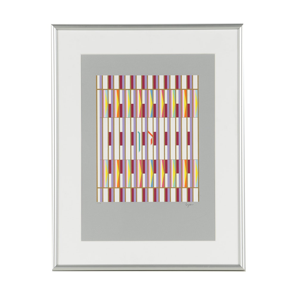 "Yaacov Agam Signed Limited Edition Serigraph ""Dan"""