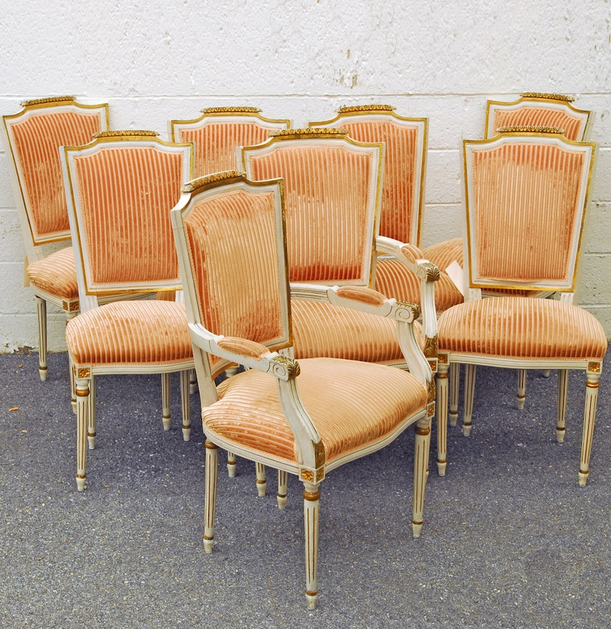 Vintage Louis XVI Style Dining Chairs : EBTH