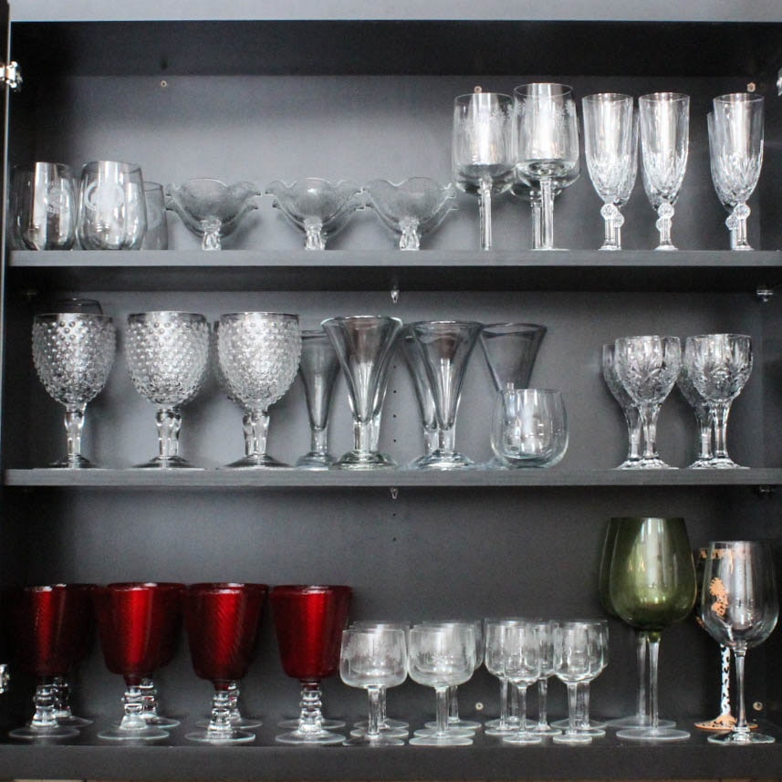 Assortment of Glass Stemware