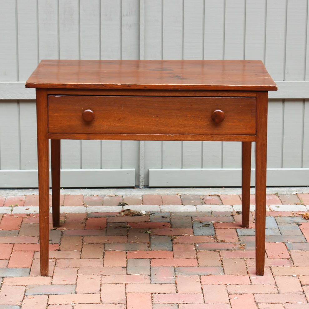 Antique Country Hepplewhite Style Work Table