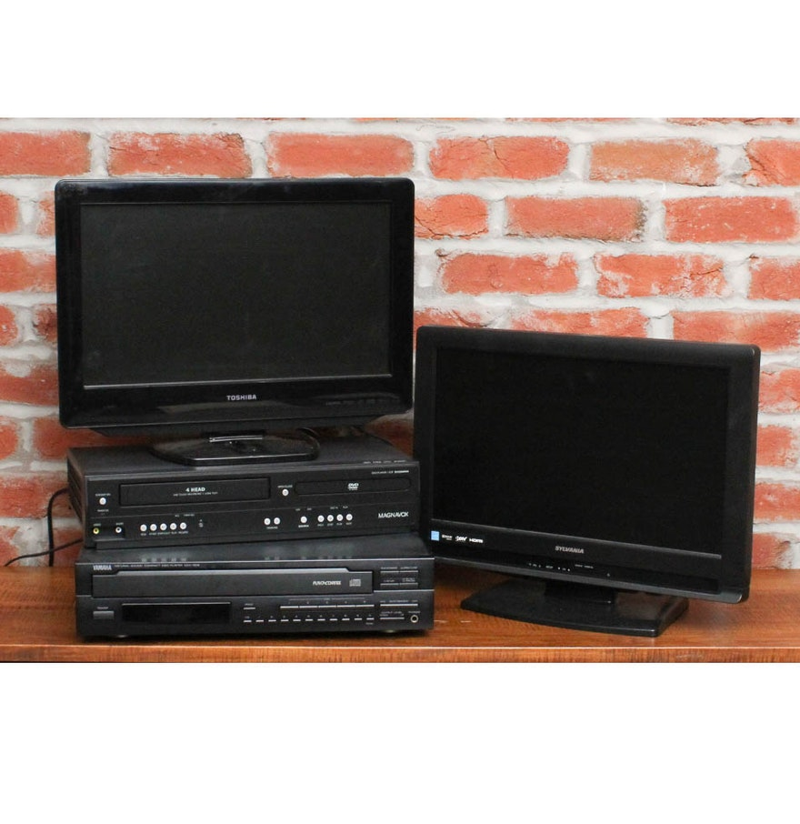 flat screen televisions vcr dvd player and other a v accessories ebth. Black Bedroom Furniture Sets. Home Design Ideas