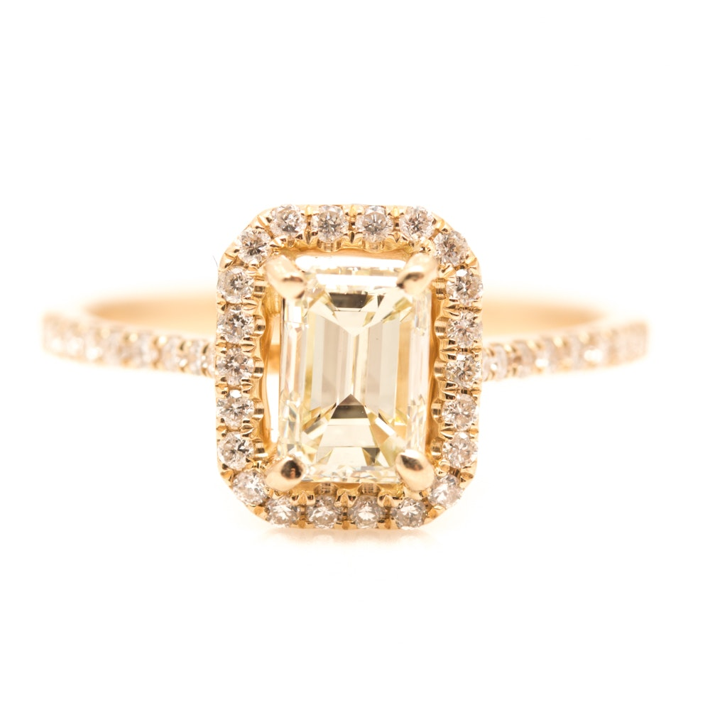 14K Yellow Gold 1.26 CTW Diamond Ring