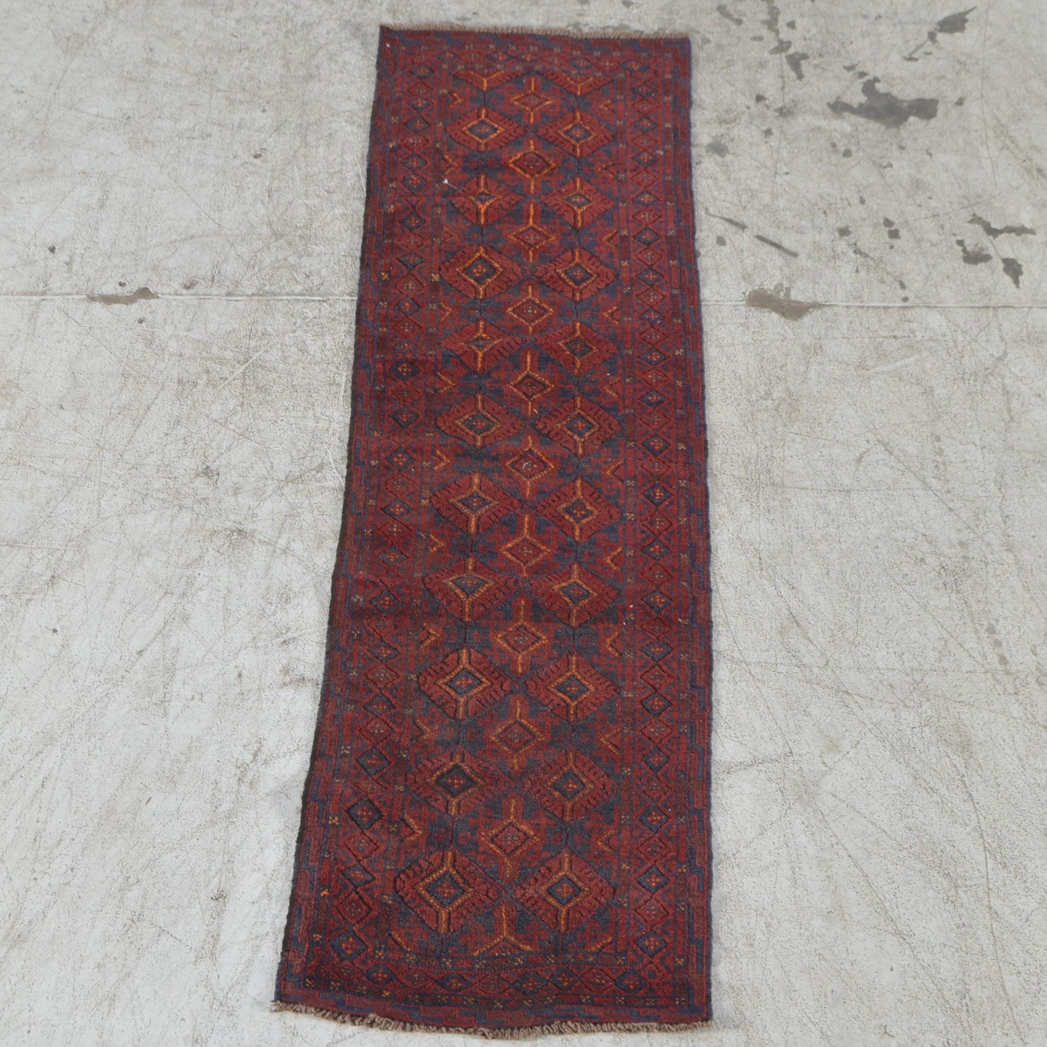 Hand-Knotted Baluch Tribal Carpet Runner