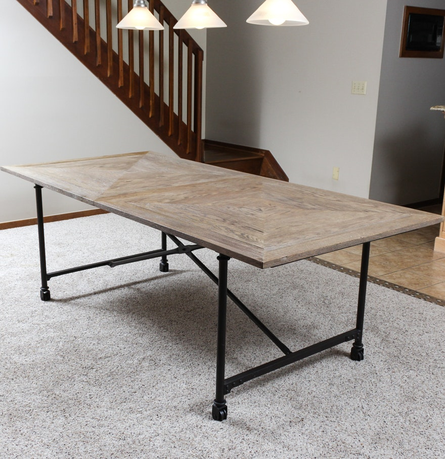 industrial style dining table ebth