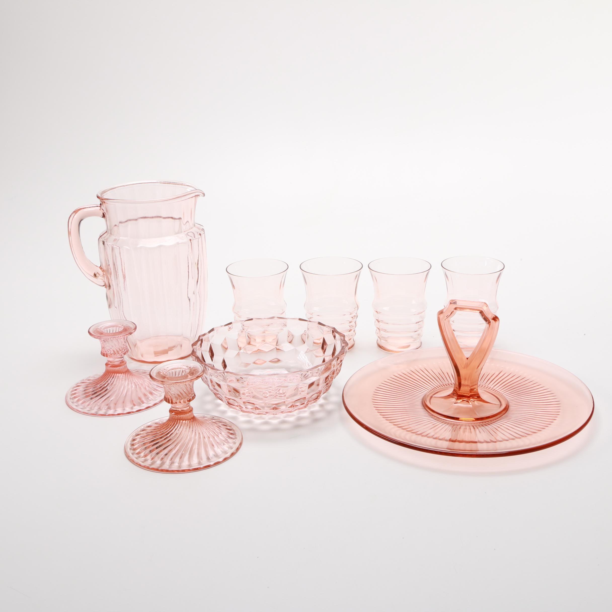 Pink Glass Tableware