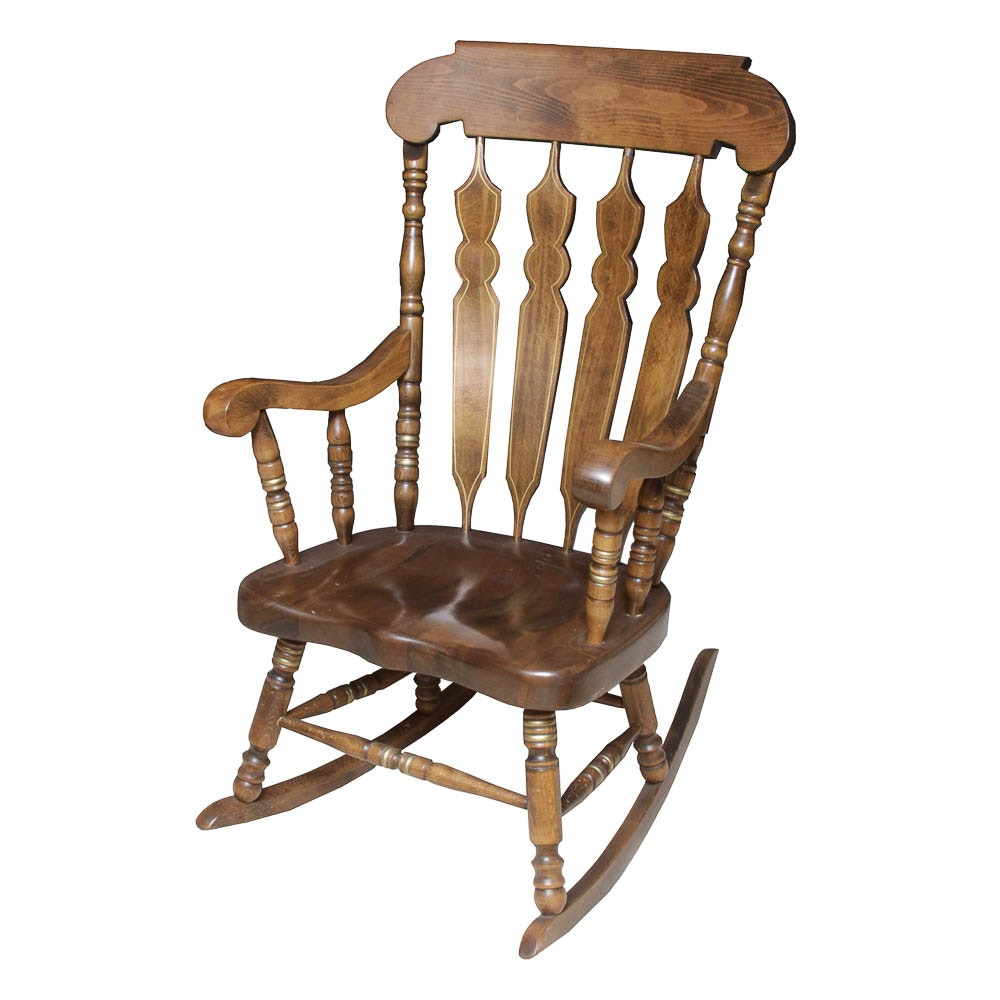 Vintage Wooden Rocking Chair By Shafer Commercial Seating Inc. ...