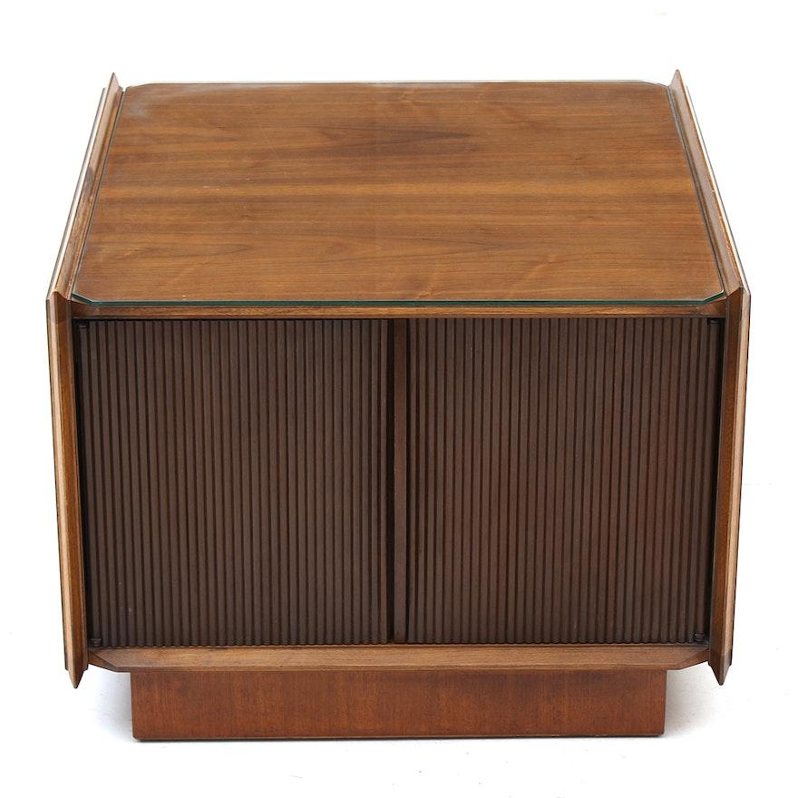 Mid Century Modern Walnut Coffee Table With Storage By Lane Ebth
