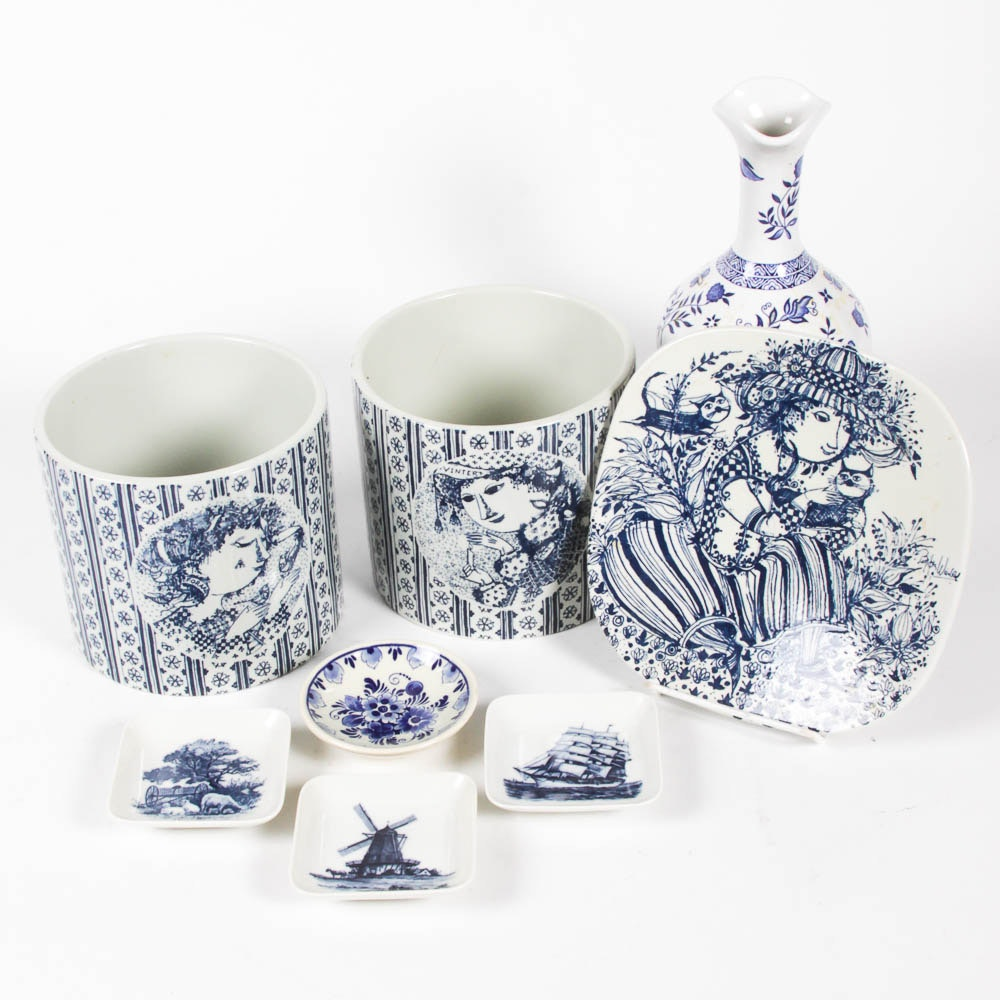 Collection of Royal Copenhagen and Delfts Tableware