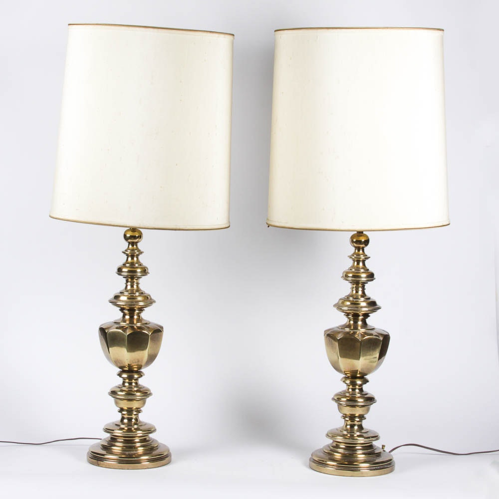 Pair of Matching Brass Table Lamps