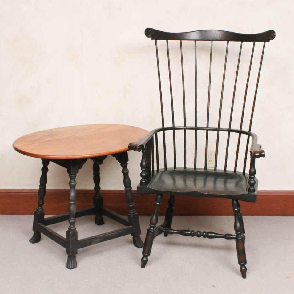 Michigan Camp Windsor Chair and Side Table